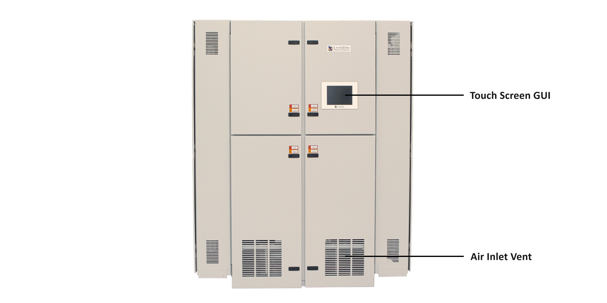 ePODs Type-X Power Distribution Unit with Transformer and Distribution Doors Closed