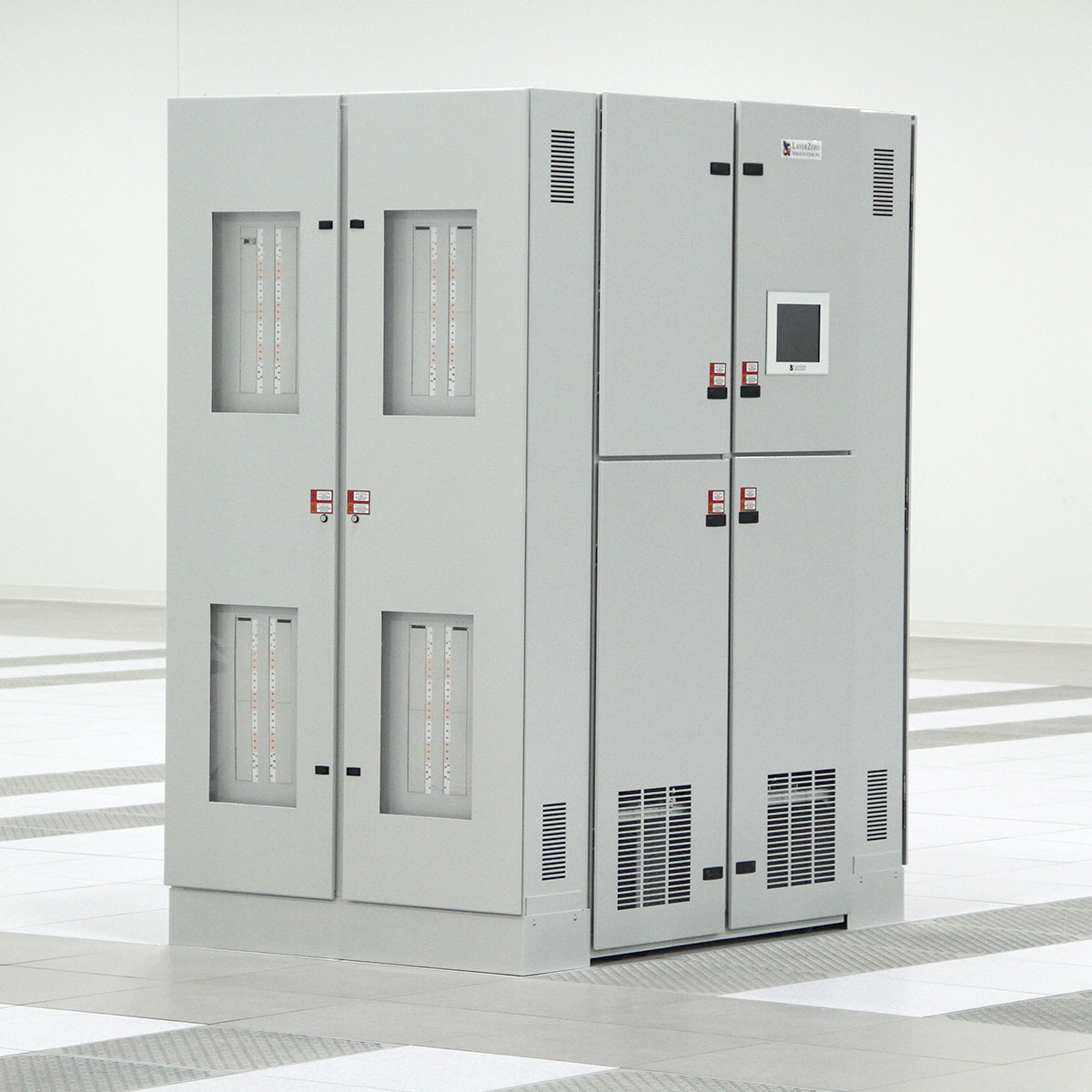 The LayerZero Series 70 ePODs: Type-X Power Distribution Unit (PDU) on data center floor.