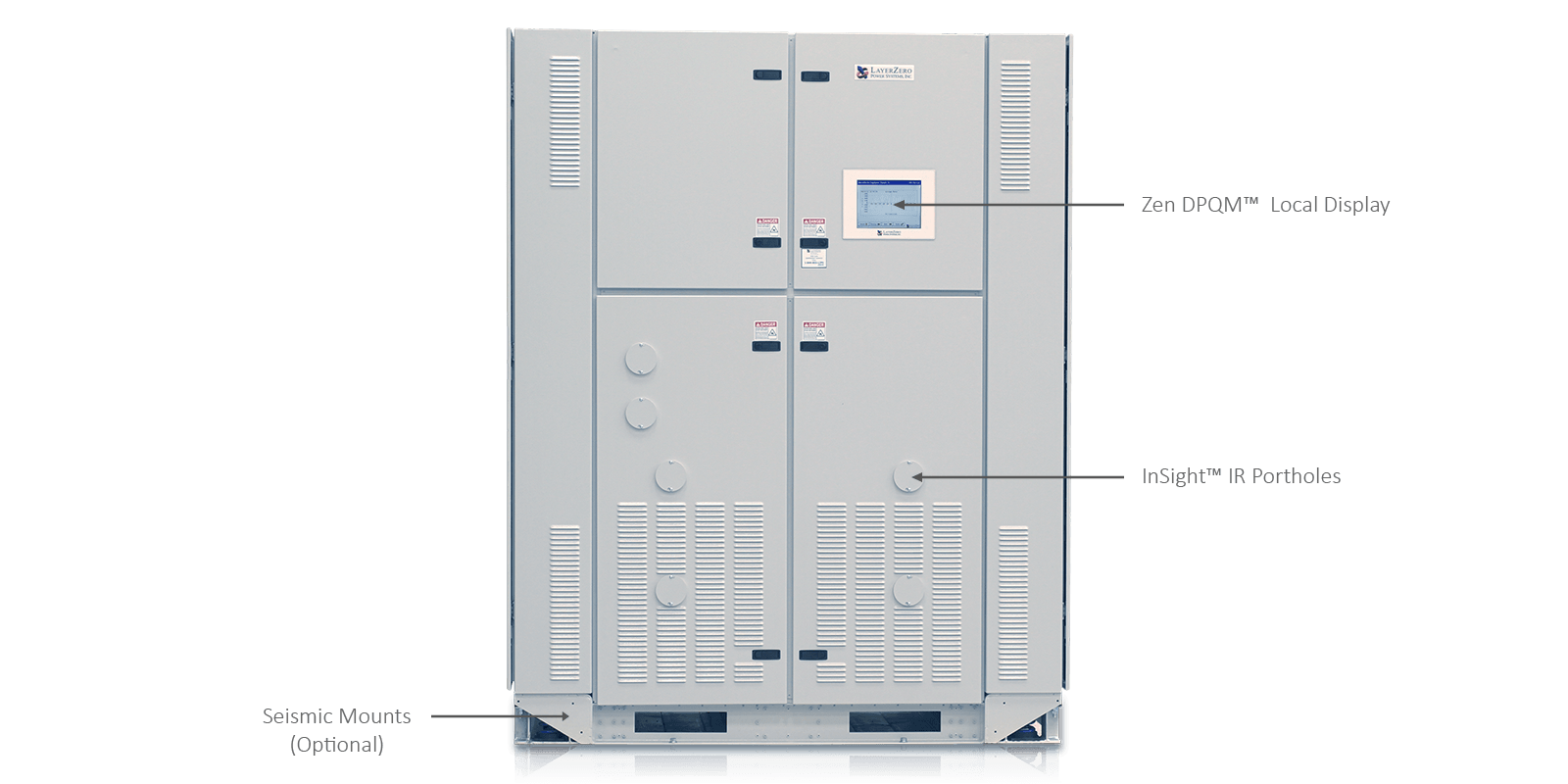 ePODs Type-XL Power Distribution Unit with Transformer and Distribution Doors Closed
