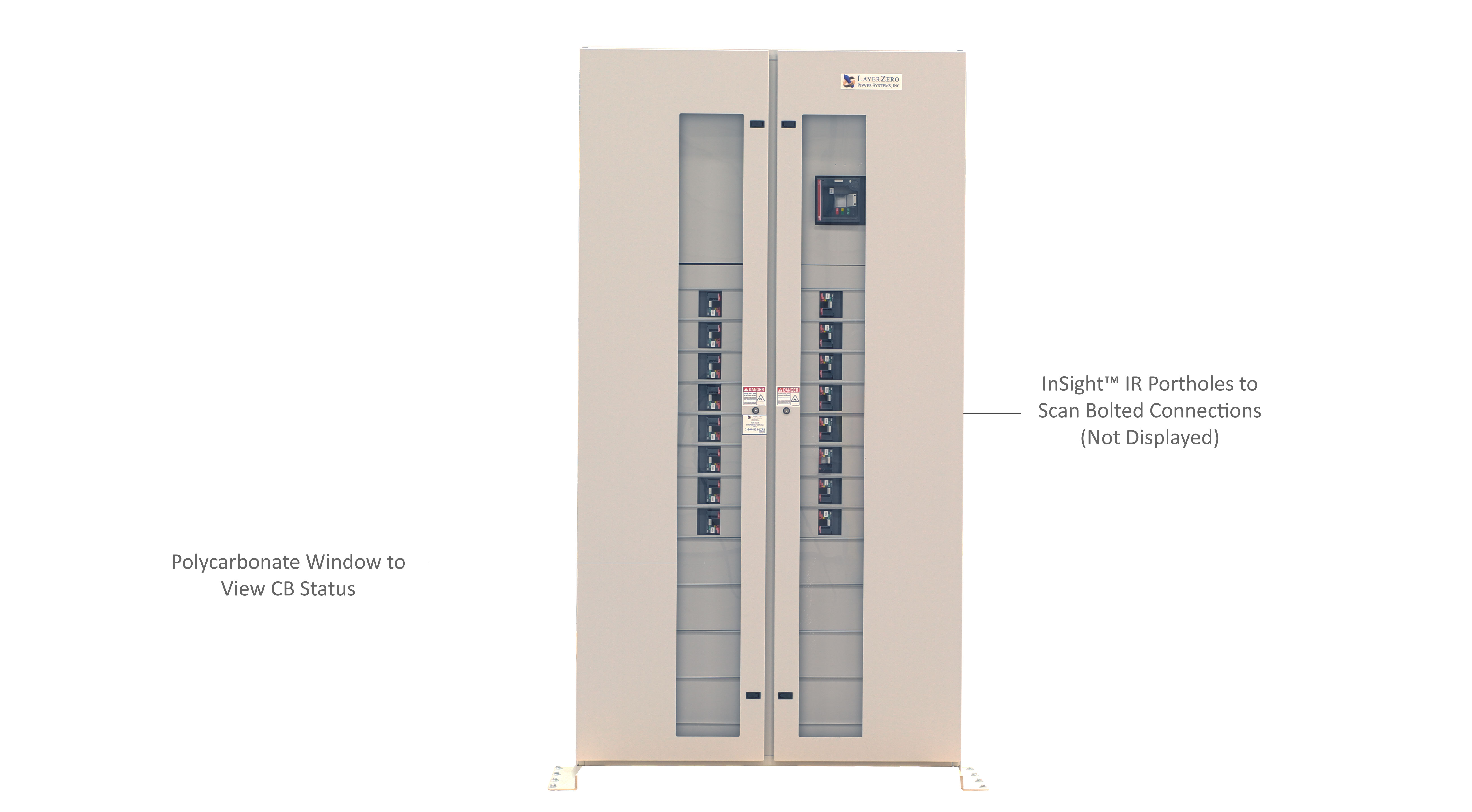 ePanel-HD2 High Density Power Panel with the Outer Door Closed